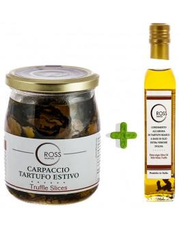 Paquet Truffes Noires Tranchées 500g et Olive Blanche 250ml