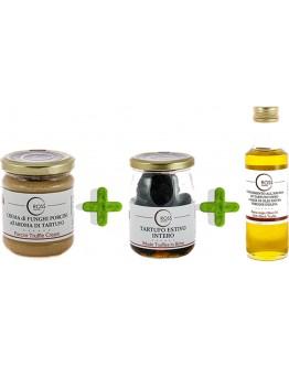 Triple paquet de truffes à l'huile d'olive et aux cèpes